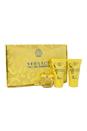 Versace Yellow Diamond by Versace for Women - 3 Pc Mini Gift Set 0.17oz EDT Splash, 0.8oz Shower Gel, 0.8oz Body Lotion