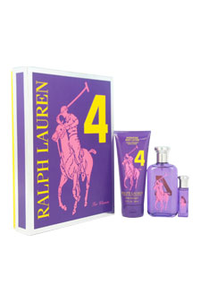 The Big Pony Collection # 4 by Ralph Lauren for Women - 3 Pc Gift Set 3.4oz EDT Spray, 0.34oz EDT Spray, 6.7oz Body Lotion