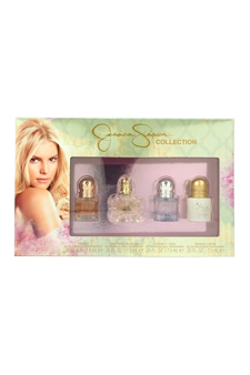 Jessica Simpson Collection by Jessica Simpson for Women - 4 Pc Mini Gift Set 0.25oz Fancy EDP Spray, 0.25oz Vintage Bloom EDP Spray, 0.25oz I Fancy You EDP Spray, 0.25oz Fancy Love EDP Spray