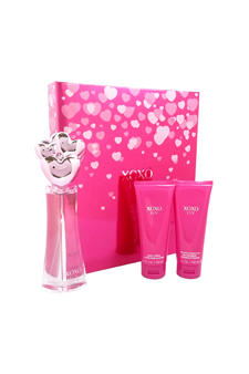 XoXo Luv by XOXO for Women - 3 Pc Gift Set 3.4oz EDP Spray,