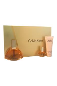 Calvin Klein Endless Euphoria women 4oz EDP Spray Body Lotion Gift Set