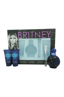 Britney Spears Midnight Fantasy women 3.3oz EDP Spray Shower Gel Gift Set
