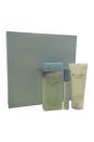 Light Blue by Dolce & Gabbana for Women - 3 Pc Gift Set 3.3oz EDT Spray, 0.25oz EDT Mini Spray, 3.3oz Refreshing Body Cream