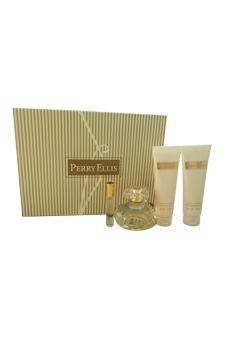Perry Ellis by Perry Ellis for Women - 4 Pc Gift Set 3.4oz E
