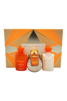 Bvlgari Omnia Indian Garnet women 1.35oz EDT Spray Body Lotion Shower Gel Gift Set