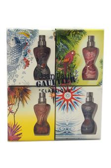 Classique Eau D'Ete Summer Fragrance Miniatures by Jean Paul Gaultier for Women - 4 Pc Mini Gift Set 4 x 0.11oz EDT Splash (2009 , 2011, 2012 & 2013 Editions)