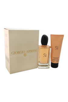Giorgio Armani Si by Giorgio Armani for Women - 2 Pc Gift Set 3.4oz EDP Spray, 2.5oz Body Lotion