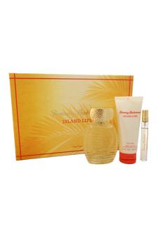 Tommy Bahama Island Life by Tommy Bahama for Women - 3 Pc Gift Set 3.4oz EDP Spray, 0.33 Purse Spray, 3.4oz Body Lotion