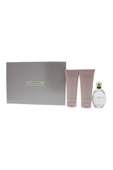 Lovely by Sarah Jessica Parker for Women - 3 Pc Gift Set 3.4oz EDP Spray , 6.7oz Gentle Bath & Shower Gel , 6.7oz Soft Body Lotion