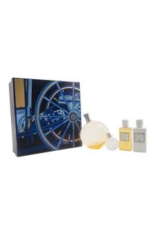 Eau Des Merveilles by Hermes for Women - 4 Pc Gift Set 3.3oz EDT Spray, 0.25oz EDT Mini Splash, 1.35oz Moisturizing Body Lotion, 1.35oz Body Shower Gel