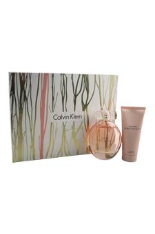 Calvin Klein Sheer Beauty women 3.4oz EDT Spray Body Lotion Gift Set