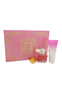 Versace Bright Crystal by Versace for Women - 3 Pc Gift Set 3oz EDT Spray, 3.4oz Body Lotion, Versace Key Chain