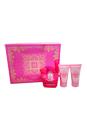 Bright Crystal Absolu by Versace for Women - 3 Pc Gift Set 1.7oz EDP Spray, 1.7oz Perfumed Body Lotion, 1.7oz Perfumed Shower Gel