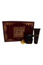 Versace Crystal Noir by Versace for Women - 3 Pc Gift Set 3oz EDP Spray, 3.4oz Body Lotion, Versace Keychain