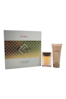 Cartier La Panthere women 1.6oz EDP Spray Body Lotion Gift Set