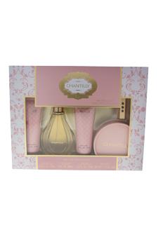 Chantilly by Dana for Women - 5 Pc Gift Set 3oz EDT Spray, 2.5oz Body Lotion, 2.5oz Body Wash, 1.75oz Dusting Powder, 5ml Refillable