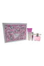 Versace Bright Crystal by Versace for Women - 3 Pc Gift Set 3oz EDT Spray, 3.4oz Perfumed Body Lotion, 0.3oz EDT Spray