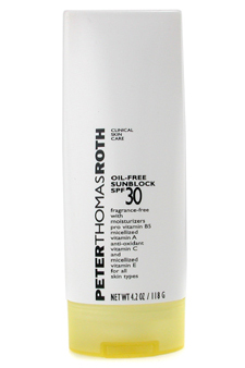 Oil-Free Sunblock SPF 30 by Peter Thomas Roth for Unisex Oil-Free Sunblock