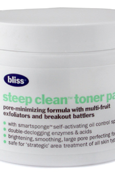 Steep Clean Toner Pads by Bliss for Unisex - 50 Pads Day Care