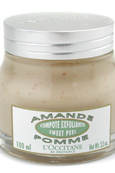 Almond Apple Sweet Peel (Exfoliates and Refines Skins Texture) by L&#39;Occitane for Unisex Exfolianting Cream