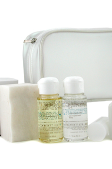 Skincare Travel Set by Laura Mercier for Unisex - 4 Pc + 1 Bag Set $ 37.09