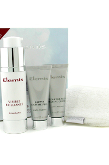 Visible Brilliance Free Home Facial Treatment (Limited Edition) by Elemis for Unisex - 3 Pc Treatment