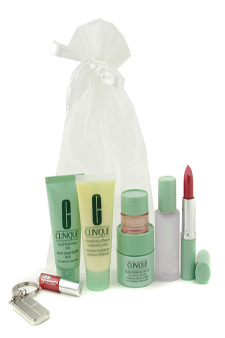 Travel Set: Liquid Soap + Lotion + Superdefense + DDML + Eye Cream + ? by Clinique for Unisex - 8 Pcs Gift Set