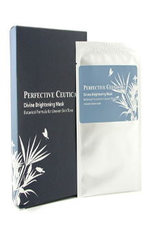 Divine Brightening Mask Botanical Formula for Uneven Skin Tone by Perfective Ceuticals for Unisex - 5 Sheets Mask