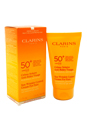 Sun Wrinkle Control Cream Very High Protection For Face UVB/UVA 50+ by Clarins for Unisex - 2.6 oz Kit