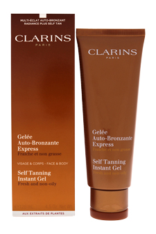 Self Tanning Instant Gel by Clarins for Unisex - 4.2 oz Gel