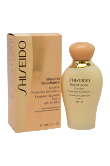 Benefiance Daytime Protective Emulsion N SPF 15 by Shiseido for Unisex - 2.5 oz Emulsion