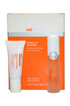 Serious Lip Treatment: Step1 + Step2 8ml by MD Skincare for Unisex - 2 Pc Set