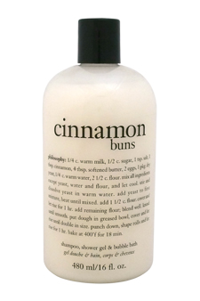 Cinnamon Buns 3-In-1 Bath & Shower Gel by Philosophy for Unisex - 16 oz Shower Gel
