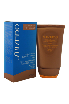 Brilliant Bronze Tinted Self-Tanning Cream - Medium Tan (For Face) by Shiseido for Unisex - 1.8 oz Sun Care