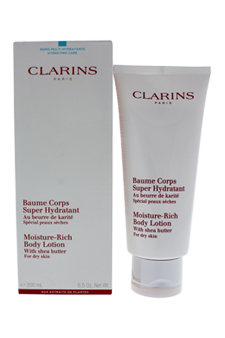 Moisture Rich Body Lotion with Shea Butter (Dry Skin) by Clarins for Unisex - 6.5 oz Body lotion