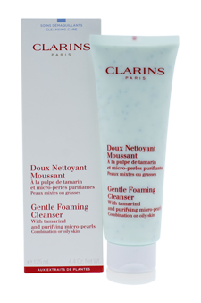 Gentle Foaming Cleanser With Tamarind & Purifying Micro Pearls by Clarins for Unisex - 4.4 oz Foaming Cleanser