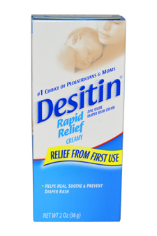 Desitin Rapid Relief Diaper Rash Cream by Johnson & Johnson for Kids - 2 oz Cream