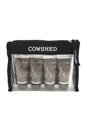 Pocket Cow Bullocks by Cowshed for Men - 4 Pc Kit 0.68oz Bracing Body Wash, 0.68oz Refining Facial Scrub, 0.68oz Smooth Shaving Cream, 0.68oz Soothing Moisturiser