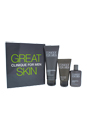 Great Skin for Him - Normal To Dry Skin by Clinique for Men - 3 Pc Kit 1.7oz Face Wash, 1oz Exfoliating Tonic, 3.4oz Moisturizing Lotion