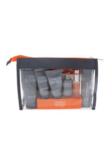 Well-Traveled, Well-Groomed Set by Clinique for Men - 7 Pc Set 2oz Cream Shave, 1oz Moisturizing Lotion, 1oz Face Scrub, 0.5oz Anti-Fatigue Eye Gel, 0.5oz Post-Shave Soother, 0.24oz Clinique Happy for Men Cologne Spray, Travel Bag