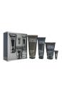 Great Skin for Him - Normal To Dry Skin by Clinique for Men - 4 Pc Kit 3.4oz Face Scrub Exfoliant, 6.7oz Face Wash, 3.4oz SPF 21 Moisturizer, 0.17oz Anti-Fatigue Eye Gel