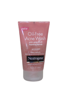 Oil-Free Acne Wash Daily Scrub by Neutrogena for Unisex - 4.2 oz Scrub