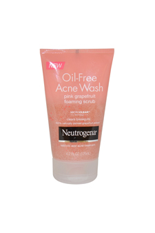 Oil Free Acne Wash Pink Grapefruit Foaming Scrub by Neutrogena for Unisex - 4.2 oz Scrub