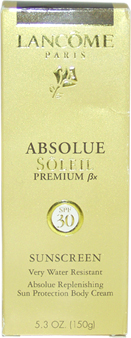 Absolue Soleil Premium Bx SPF 30 Sunscreen Body Cream by Lancome for Unisex Body Cream
