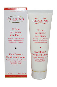 Foot Beauty Treatment Cream by Clarins for Unisex - 4 oz Cream