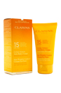 Sun Wrinkle Control Cream Moderate Protection For Face SPF 15 by Clarins for Unisex - 2.7 oz Cream