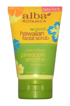 Hawaiian Pineapple Enzyme Facial Scrub by Alba Botanica for Unisex - 4 oz Scrub