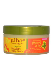 Hawaiian Papaya Mango Rejuvenating Body Cream for Unisex - 6.5 oz Body Cream