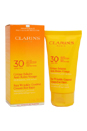 Sun Wrinkle Control Cream High Protection For Face UVB/UVA 30 by Clarins for Unisex - 2.7 oz Cream