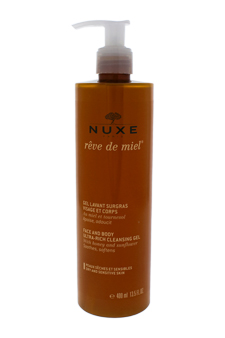 Reve de Miel - Face and Body Ultra-Rich Cleansing Gel by Nuxe for Unisex - 13.5 oz Gel